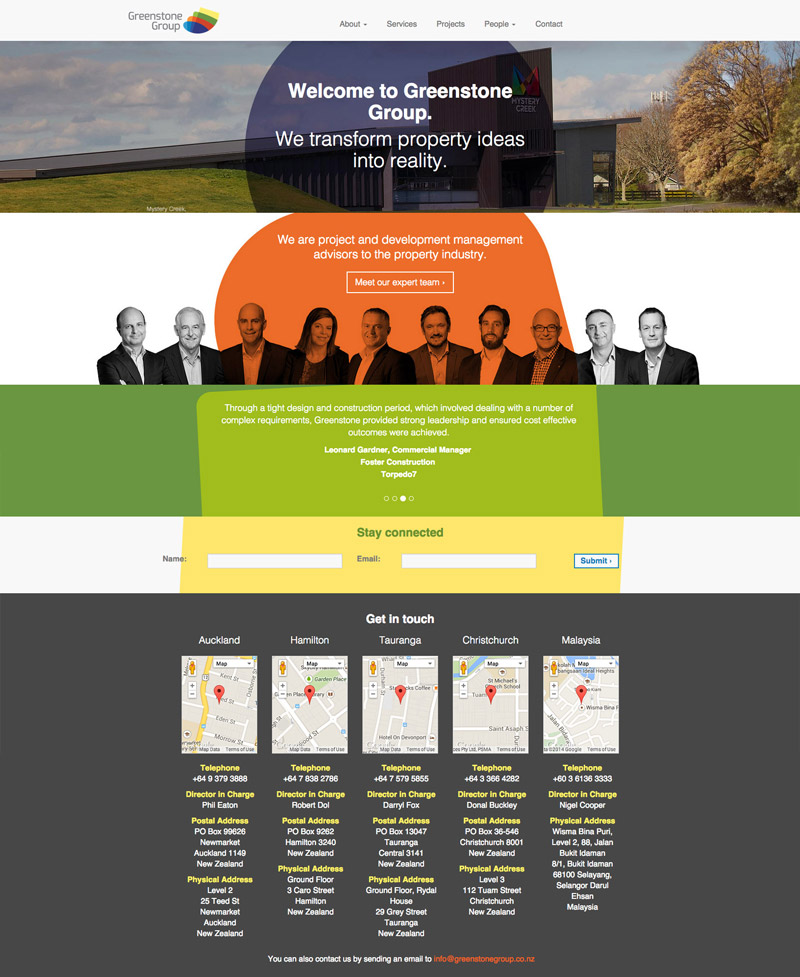 Greenstone Group Website Development